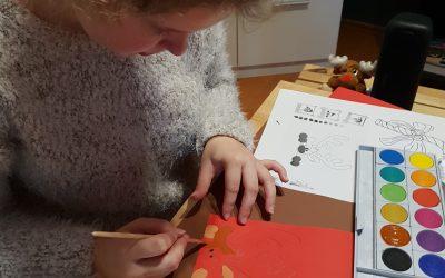 Wir basteln Weihnachtskarten